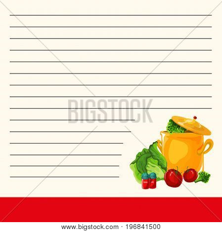 ookbook vector illustration isolated white background housewife cooking in kithen woman meal