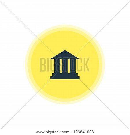 Beautiful Check-In Element Also Can Be Used As University Element.  Vector Illustration Of Academy Icon.
