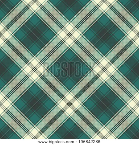 Check plaid fabric pixel seamless pattern. Vector illustration.