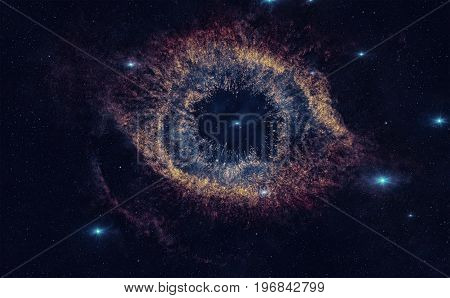 Helix Nebula Is A Large Planetary Nebula Located In The Constellation Aquarius.
