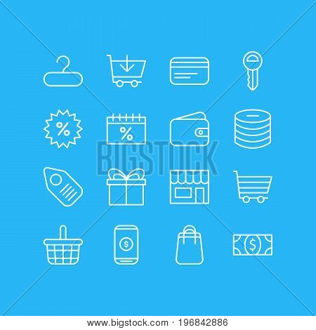Editable Pack Of Sales, Market, Rack And Other Elements.  Vector Illustration Of 16 Wholesale Icons.