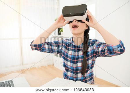 Close Up Of Student Holding Vr-headset