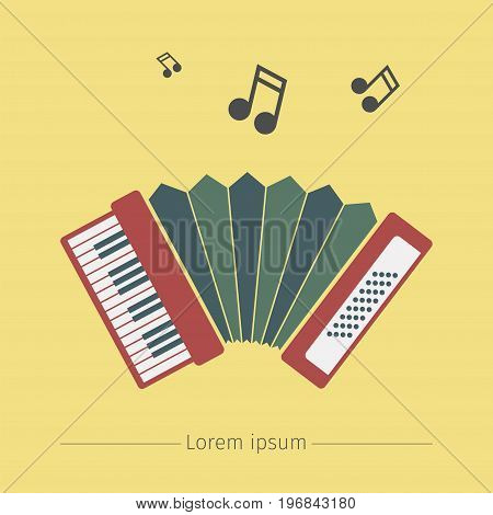 Accordion icon. Vector sign for web graphics.