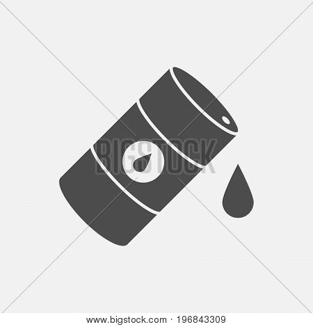 Vector icon barrels of oil. Flat illustration. Vector sign for web graphics.