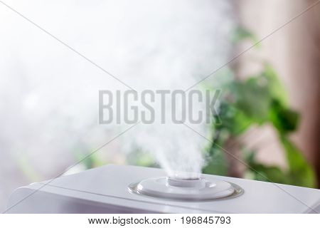 Steam humidifier in the house in the room