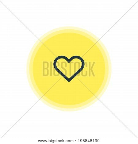Beautiful User Element Also Can Be Used As Heart Element.  Vector Illustration Of Soul Icon.