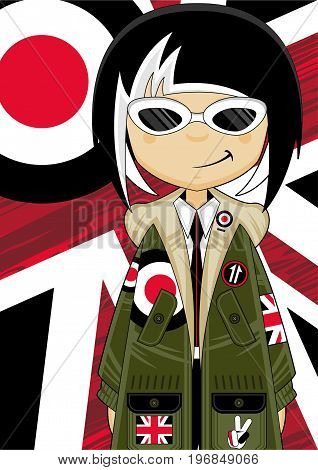 Cool Parka Jacket Mod Girl