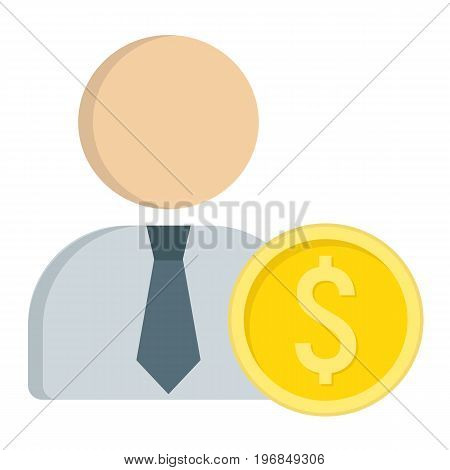 Investor flat icon, business and finance, businessman sign vector graphics, a colorful solid pattern on a white background, eps 10.