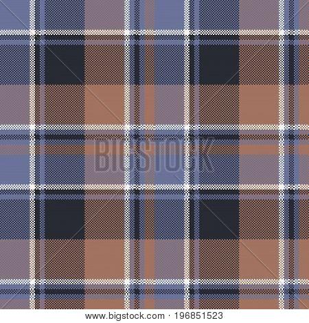 Tartan fabric texture seamless pattern. Vector illustration.