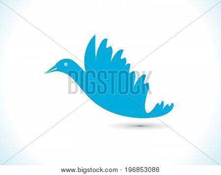 abstract creative artistic blue bird vector illustration