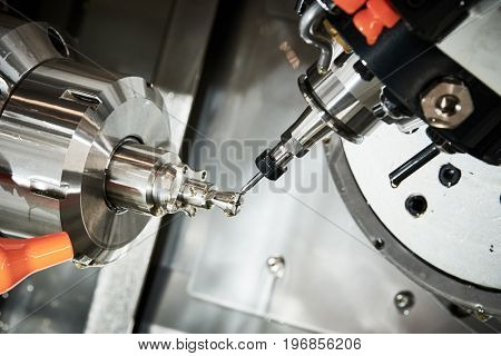 industrial metalworking cutting process by CNC milling cutter