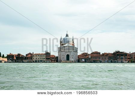 View of Le Zitelle (Santa Maria della Presentazione) church on Giudecca island in Venice, Italy.