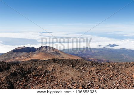 View of the pico vejo, close to teide in tenerife