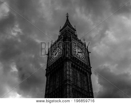 Clouds Over Houses Of Parliament In London (hdr)