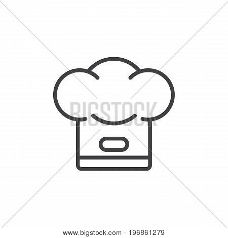 Chef hat line icon, outline vector sign, linear style pictogram isolated on white. Cook symbol, logo illustration. Editable stroke. Pixel perfect vector graphics