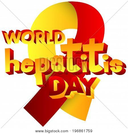Vector illustrated banner greeting card or poster for World Hepatitis Day.
