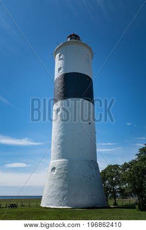 The lighthouse on the south end of Oland an island outside the Swedish east coast.
