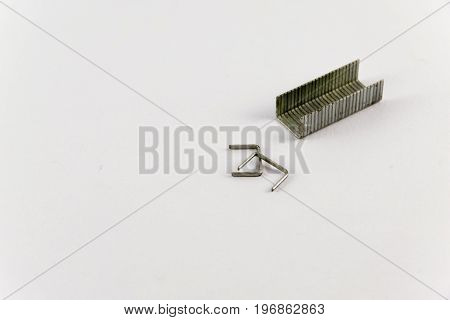 staples for office. Isolated on white background