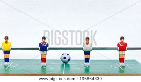 Foosball Table Soccer . Football Players Sport Teame