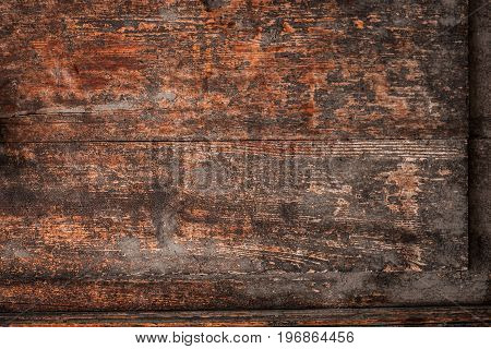 Old vintage wood door - Brown Wooden brown grunge textured wall