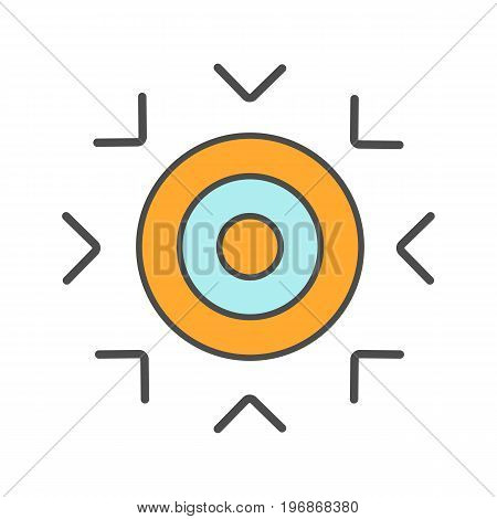 Goal color icon. Purpose abstract metaphor. Isolated vector illustration