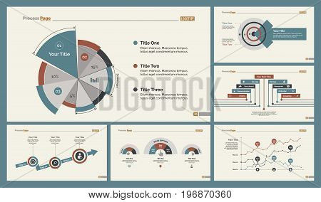 Infographic design set can be used for workflow layout, diagram, annual report, presentation, web design. Business and analytics concept with process, line and pie charts.