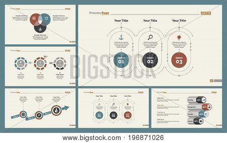 Infographic design set can be used for workflow layout, diagram, annual report, presentation, web design. Business and consulting concept with process, doughnut and percentage charts.