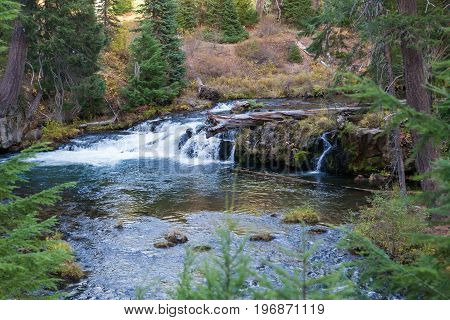 Small Waterfall In Upper Rogue River