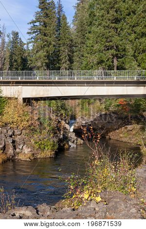 Rural Bridge Over Rogue River