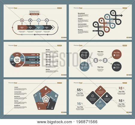 Infographic design set can be used for workflow layout, diagram, annual report, presentation, web design. Business and economics concept with process, flow and pie charts.