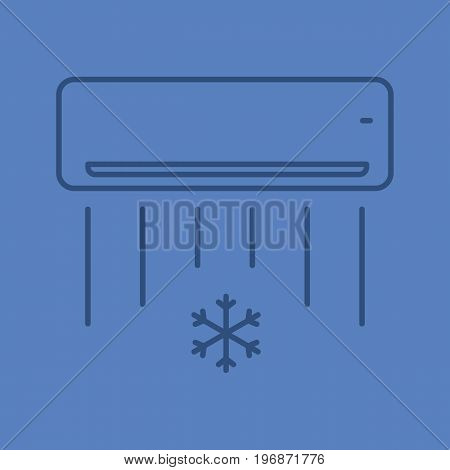 Air conditioner linear icon. Thin line outline symbols on color background. Vector illustration