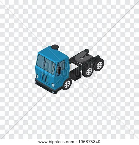 Truck   Vector Element Can Be Used For Lorry, Truck, Motor Design Concept.  Isolated Lorry Isometric.