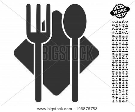 Nutrition icon with black bonus profession clip art. Nutrition vector illustration style is a flat gray iconic element for web design, app user interfaces.
