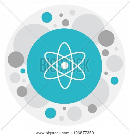 Vector Illustration Of Knowledge Symbol On Atom Icon