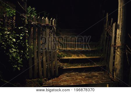 Garden Entrance During Night