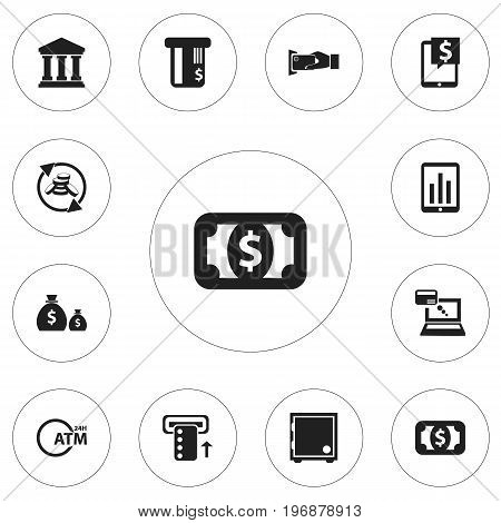 Set Of 12 Editable Financial Icons. Includes Symbols Such As Introduce, Monitoring, Edifice And More