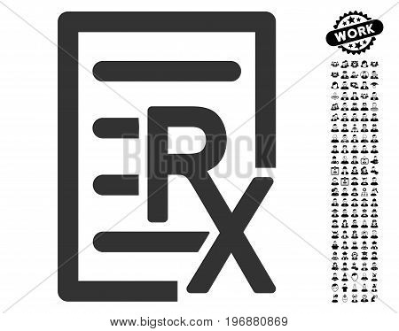 Receipt icon with black bonus professional icon set. Receipt vector illustration style is a flat gray iconic element for web design, app user interfaces.