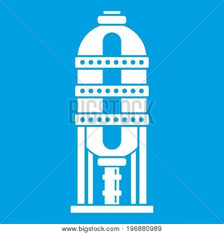 Capacity for oil storage icon white isolated on blue background vector illustration