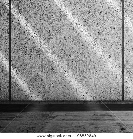 Abstract Concrete Room Interior 3 D