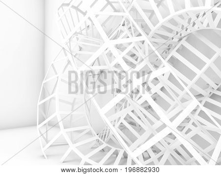 Abstract White Digital Background, Wire Knot