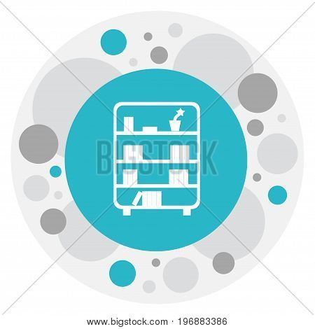 Vector Illustration Of Furnishings Symbol On Bookcase Icon