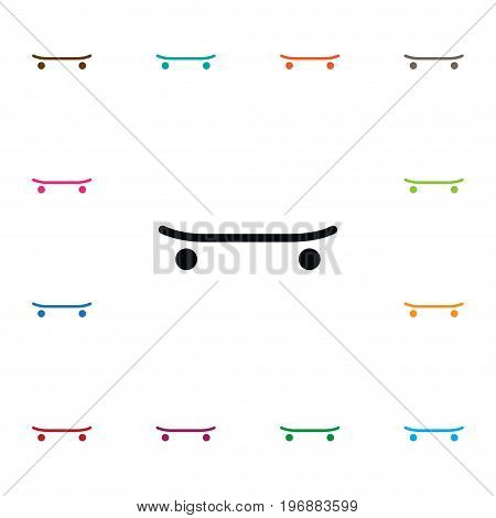 Skate  Vector Element Can Be Used For Skate, Skateboard, Freestyle Design Concept.  Isolated Skateboard Icon.