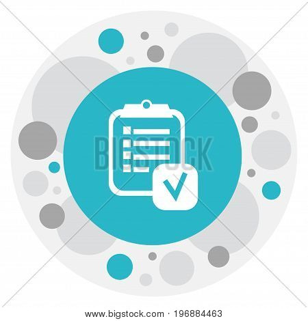 Vector Illustration Of Mixed Symbol On Checklist Icon