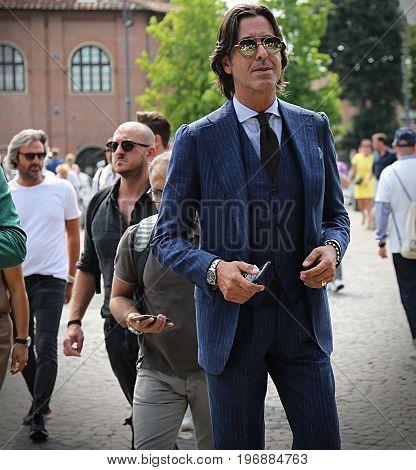 FLORENCE- 14 June 2017 Francesco Celentano on the street during the Pitti