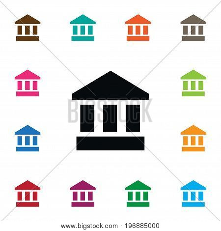 Ancient Vector Element Can Be Used For Museum, Ancient, Bank Design Concept.  Isolated Museum Icon.