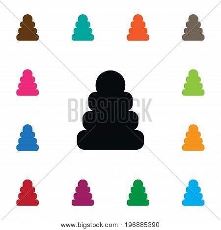 Game Vector Element Can Be Used For Pyramid, Toy, Tower Design Concept.  Isolated Toy Icon.