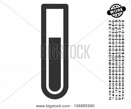 Test Tube icon with black bonus job graphic icons. Test Tube vector illustration style is a flat gray iconic element for web design, app user interfaces.