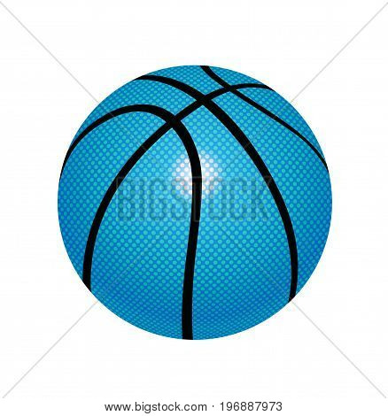 Basketball ball isolated on backgrond. Basketball icon. Vector stock.