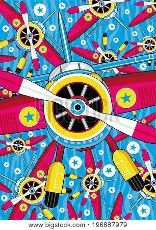 Cartoon Plane Pattern 1