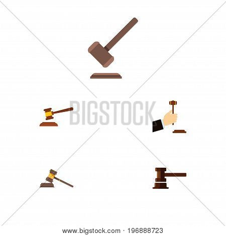 Flat Icon Court Set Of Law, Court, Government Building And Other Vector Objects